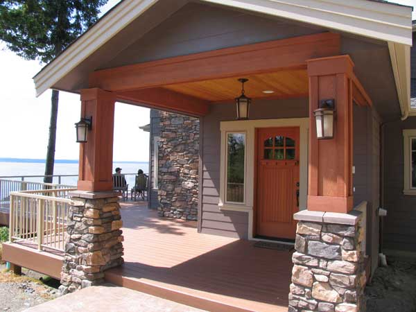 Exterior House Painting Ideas With Stone Craftsman home with stone