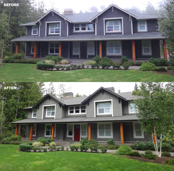 Home Exterior Colors: Before And After Exterior Paint